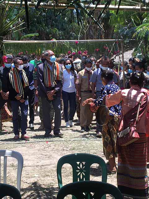 His Excellency, the Defense Minister attended the Covid-19 vaccination campaign in Suco Lisadila Community 03/10/2021