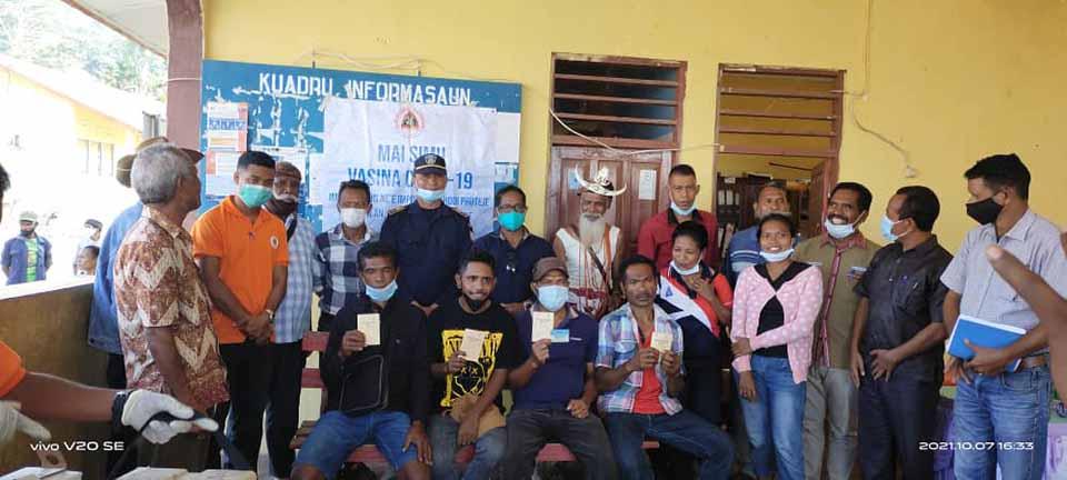 Pillar-6 participation in vaccination campaign activities in Suco Metagou, Liquica  07/10/2021